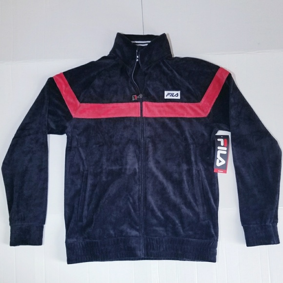 FILA VELOUR VELVET OLD SCHOOL JACKET NWT